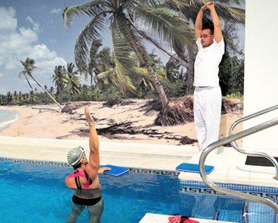 Ejercicios en la piscina Madrid